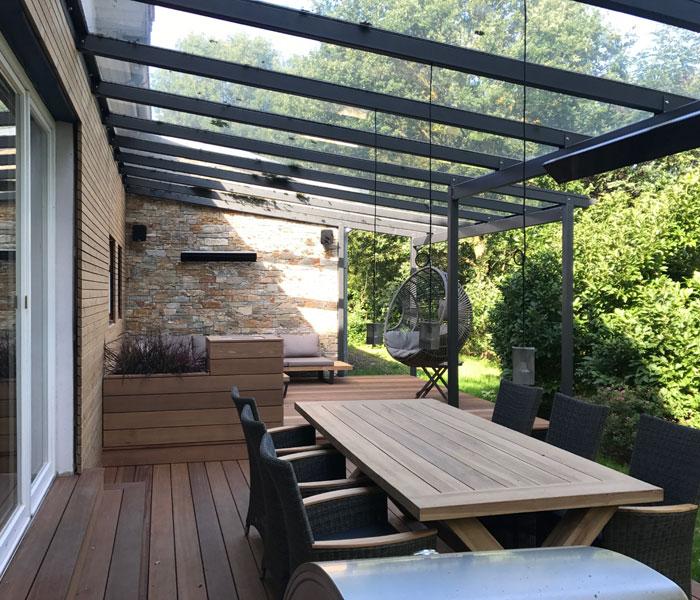 Terrassenüberdachung aus Stahl