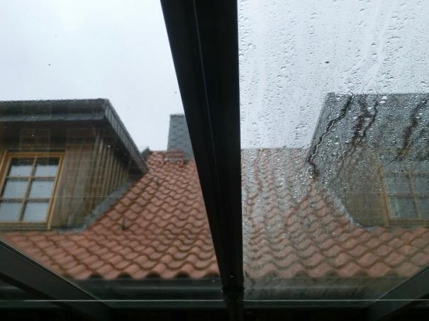 Glaseindeckung Terrassendach